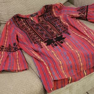 🖤 Mexican/Boho Style Top Bell Sleeves